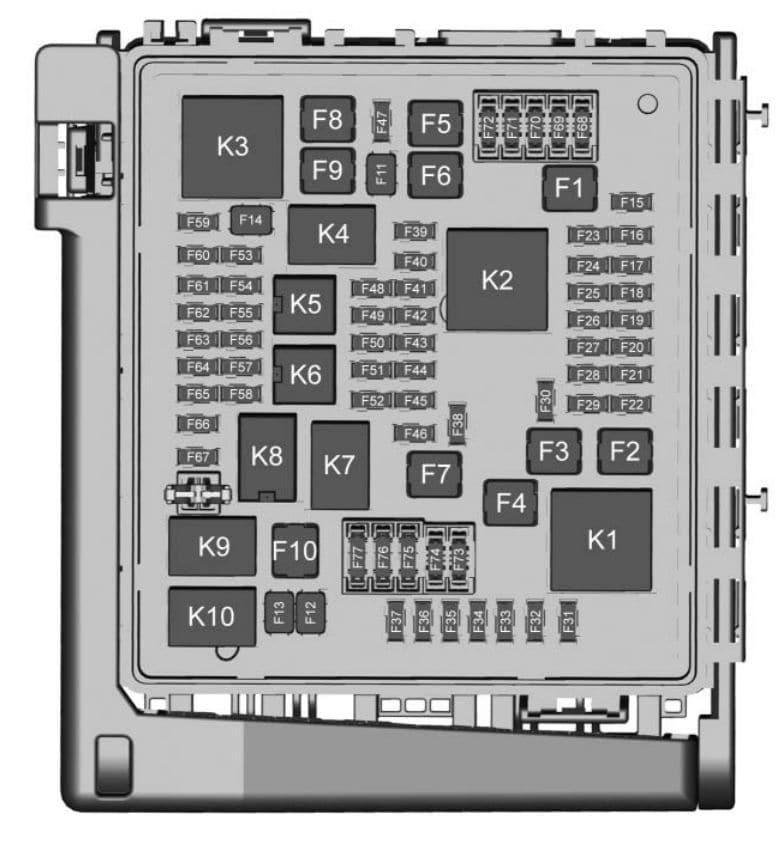Chevrolet Traverse - fuse box diagram - engine compartment