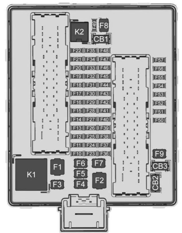Chevrolet Traverse - fuse box diagram - rear compartment