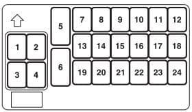 Chrysler Sebring mk2 Coupe fuse box - passenger compartment