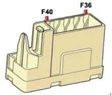 Citroen C4 - fuse box diagram - instrument panel