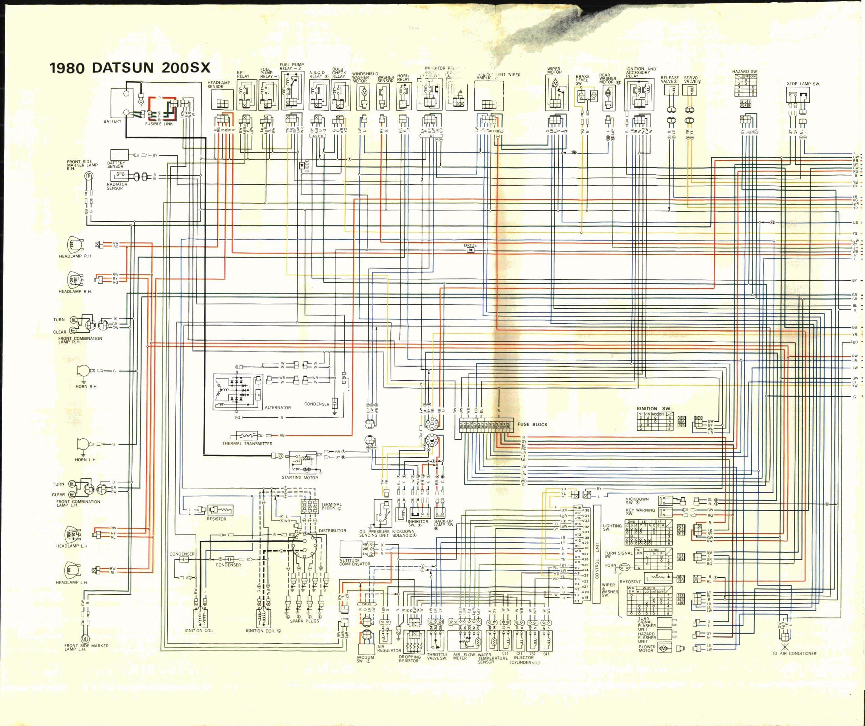 Nissan Datsun 200SX (1980) - wire diagram (page 1)