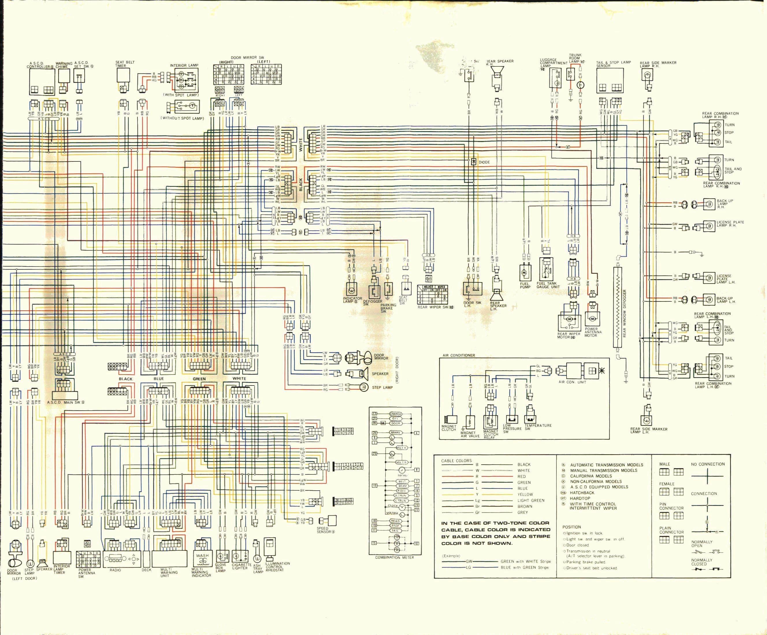 Nissan Datsun 200SX (1980) - wire diagram (page 2)