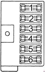 Dodge B200 - fuse box diagram