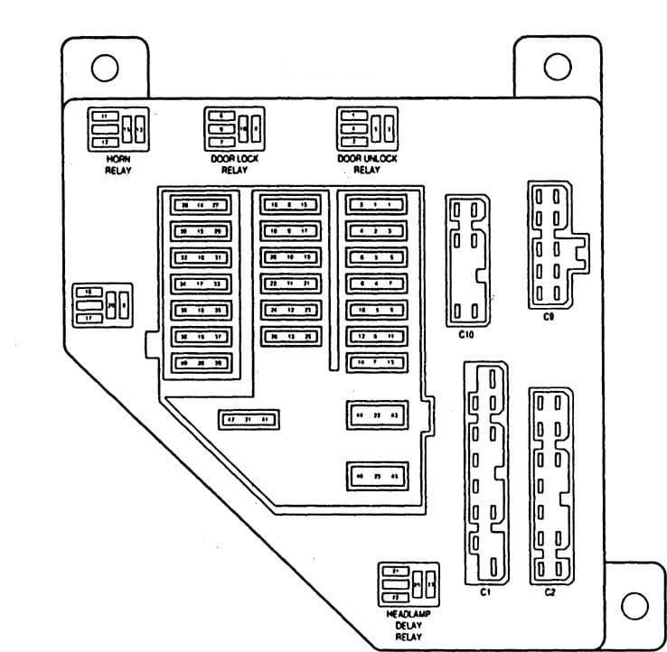 Eagle Vision - fuse diagram box - junction block