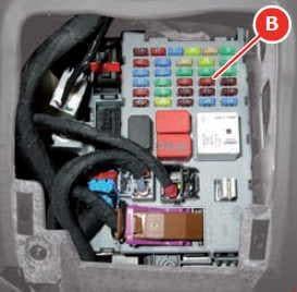 Ferrari FF - fuse box diagram - body computer - box B