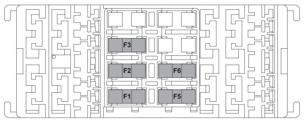 Fiat 500L LIVING - fuse box - luggage compartment
