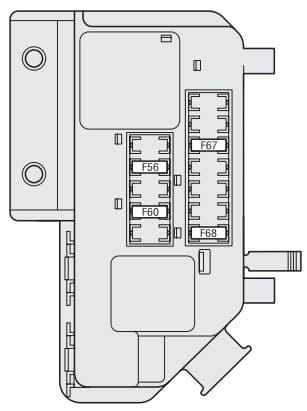 Fiat Bravo - fuse box - boot compartment