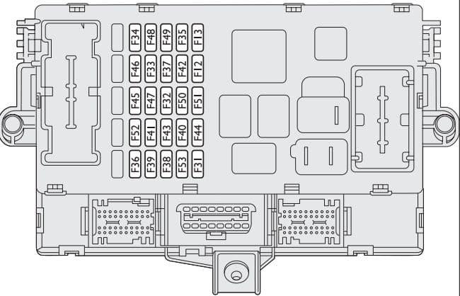 Fiat Bravo - fuse box - dashboard