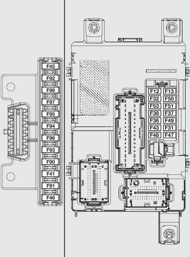 Fiat Fiorino - fuse box - passenger compartment