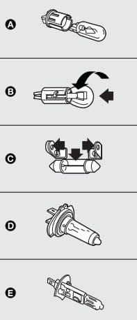 Fiat Idea - bulbs
