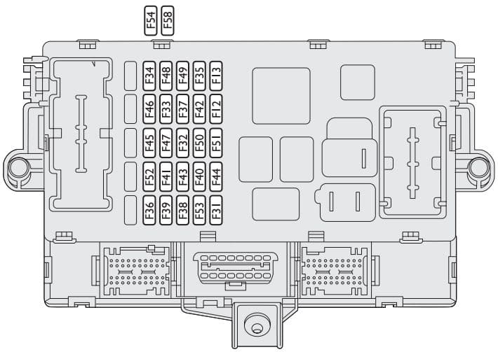Fiat Idea - fuse box - dashboard