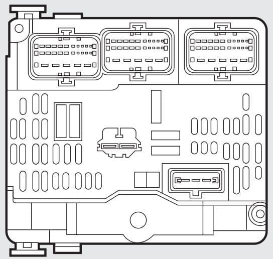Fiat Scudo mk2 - fuse box - engine compartment