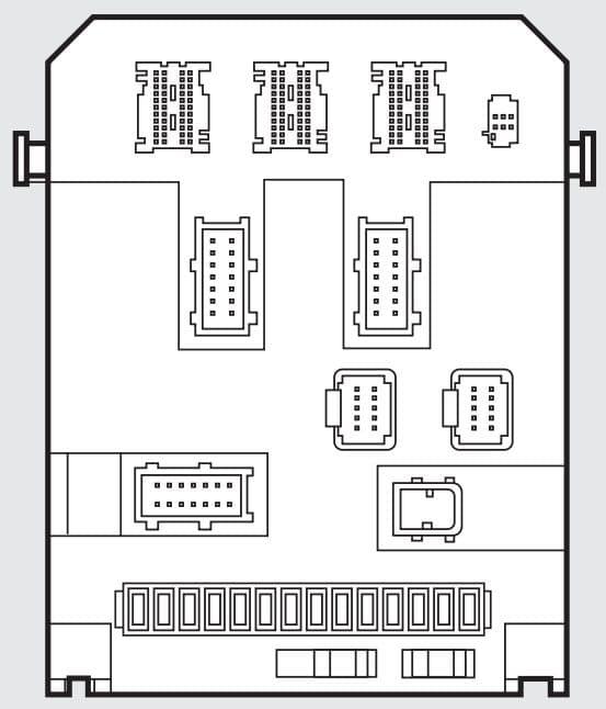 Fiat Scudo mk2 - fuse box - passenger compartment