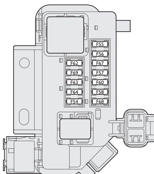 Fiat Stilo - fuse box - boot compartment