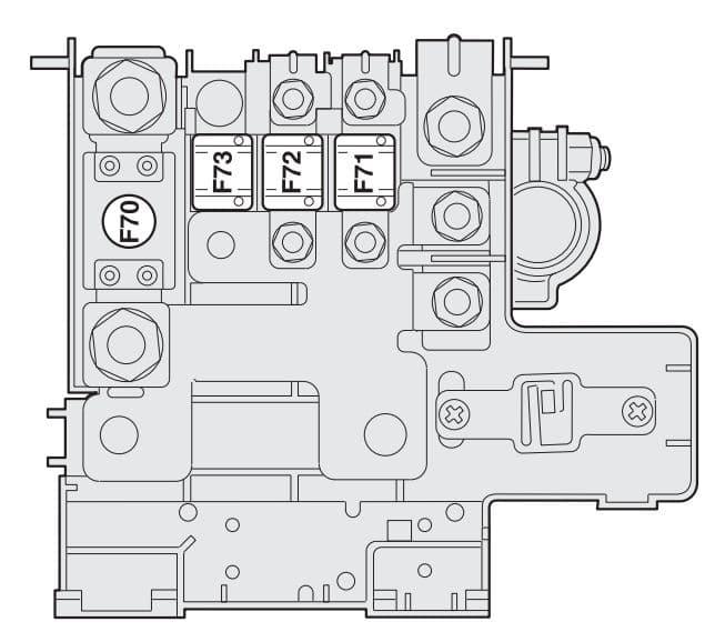 Fiat Stilo - fuse box - engine compartment (battery)