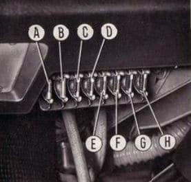 Fiat 850 Sport Spider - fuse box diagram