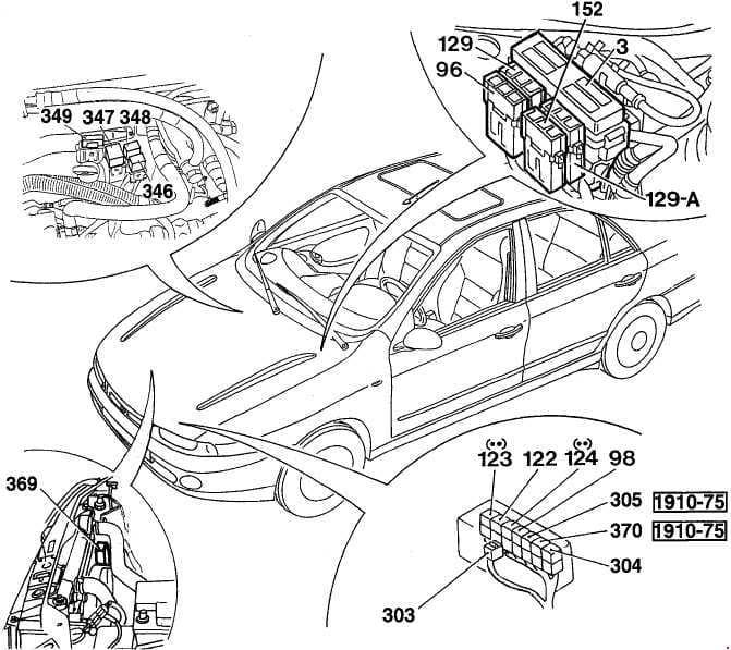 Fiat Marea - fuse box diagram - location - engine  compartment - diesel