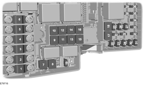 Ford C-Max mk1 (2003) - fuse box - engine compartment