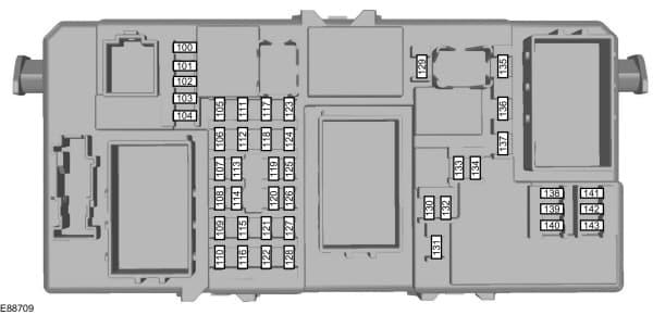 Ford C-Max mk1 (2003) - fuse box - passenger compartment