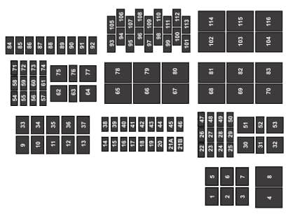 Ford F-series F-150 (2015) fuse box - power distribution box