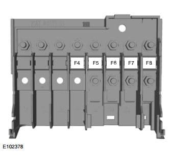 Ford Fiesta Classic (2010) - fuse box - engine compartment (India version)