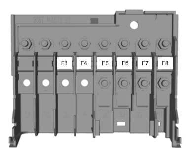 Ford Figo (2010) - fuse box - engine junction