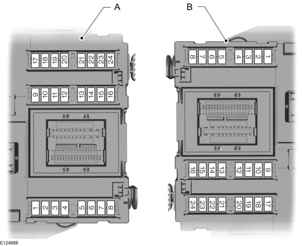 Ford Focus mk2 (2006) - central fuse box - (EU version)