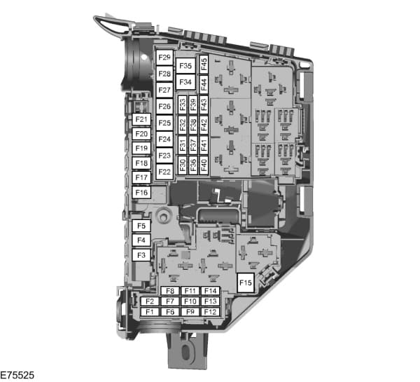 Ford Focus mk2 (2006) - fuse box - engine compartment - (EU version)