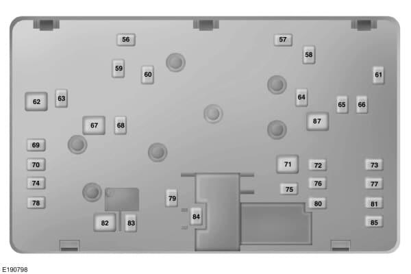 Ford Fusion mk2 (2015) - power distribution box (bottom) - USA version