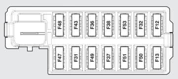 Ford Ka mk2 (2008) - fuse box - dashboard