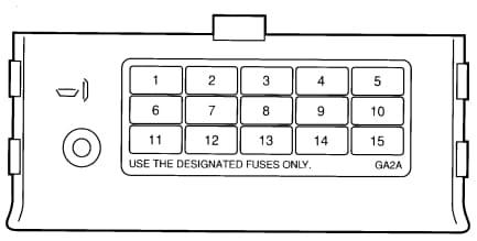 Ford Probe mk 2- fuse box - passenge compartment