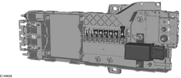 Ford Transit Custom (2015) - pre fuse box