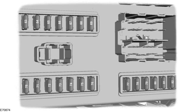 Ford Transit mk7 (2006) - fuse box - passeneger compartment