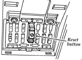 Ford Aspire - fuse box diagram - circuit breaker