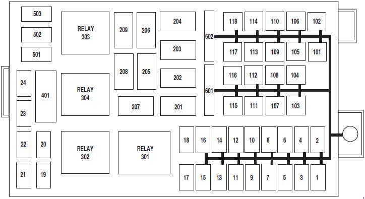 Ford Crown Victoria - fuse box diagram - engine compartment