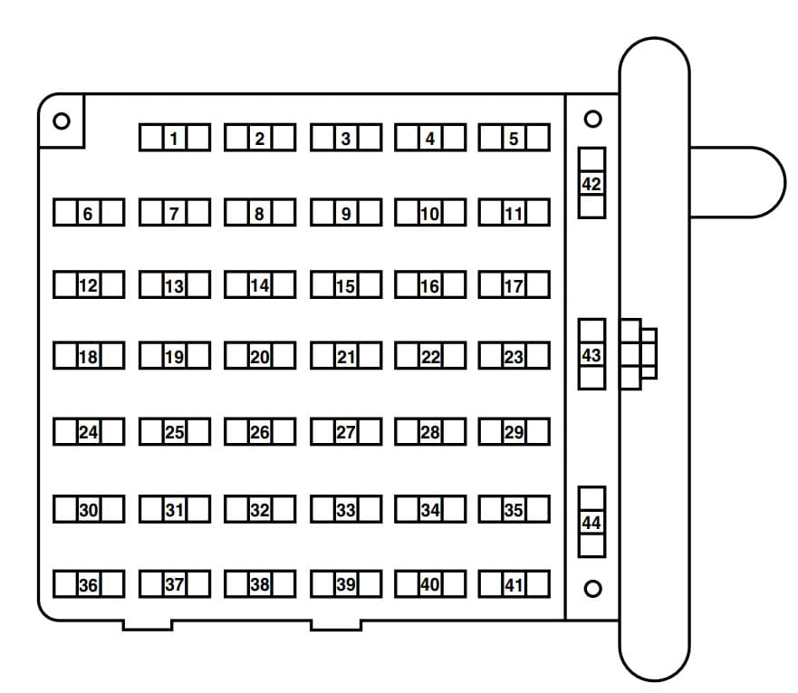 Ford E-250 - fuse box -  passenger compartment