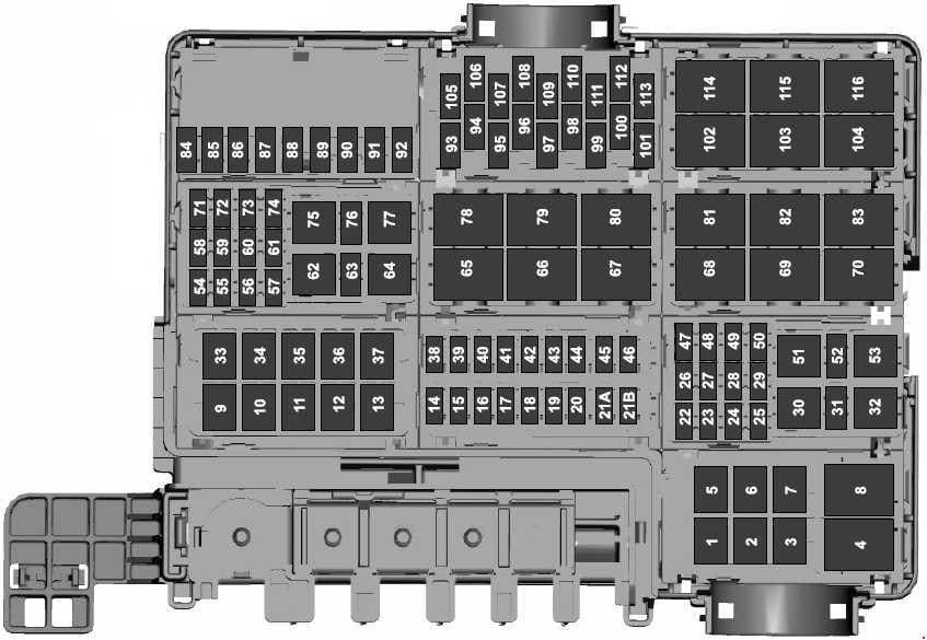 Ford F-150 - fuse box diagram - engine compartment