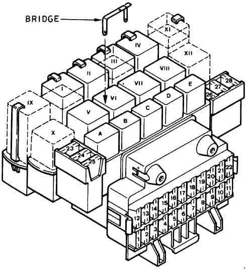Ford Fiesta - fuse box diagram