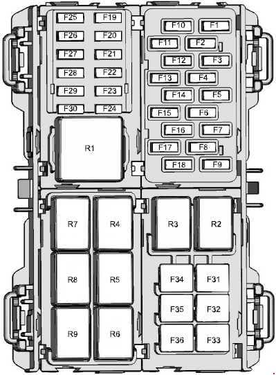 Ford Fiesta - fuse box diagram - engine compartment - North America