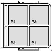 Ford Fiesta - fuse box diagram - engine compartment relay box
