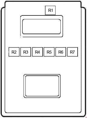 Ford Fiesta - fuse box diagram - relay box (fridge van)