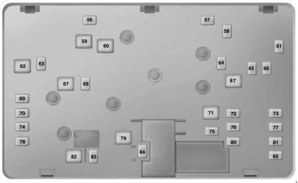 Ford Fusion - fuse box diagram - power distribution box (bottom)