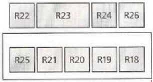 Ford Galaxy - fuse box diagram - addittional relay box