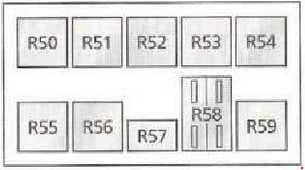 Ford Galaxy - fuse box diagram - engine compartment fuse box