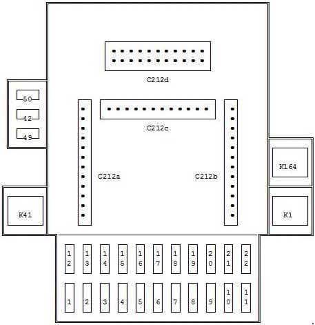 Ford Puma - fuse box diagram - passenger compartment fuse box