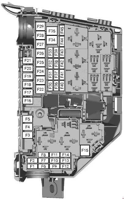 Ford S-MAX - fuse box diagram - engine compartment