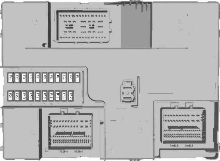 Ford Transit - fuse box diagram - body control module fuse box (2.2l diesel)