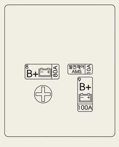Genesis G90 - fuse box - trunk (battery) - for Brazil