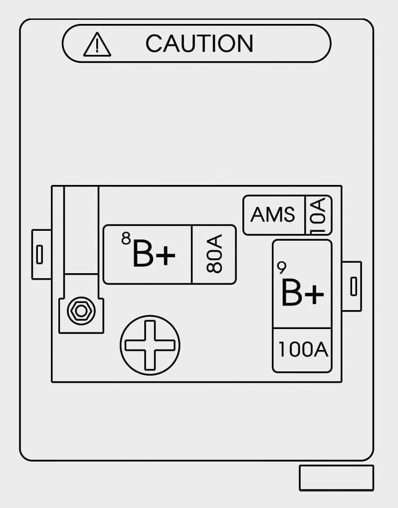Hyundai Genesis - fuse box - trunk (battery)