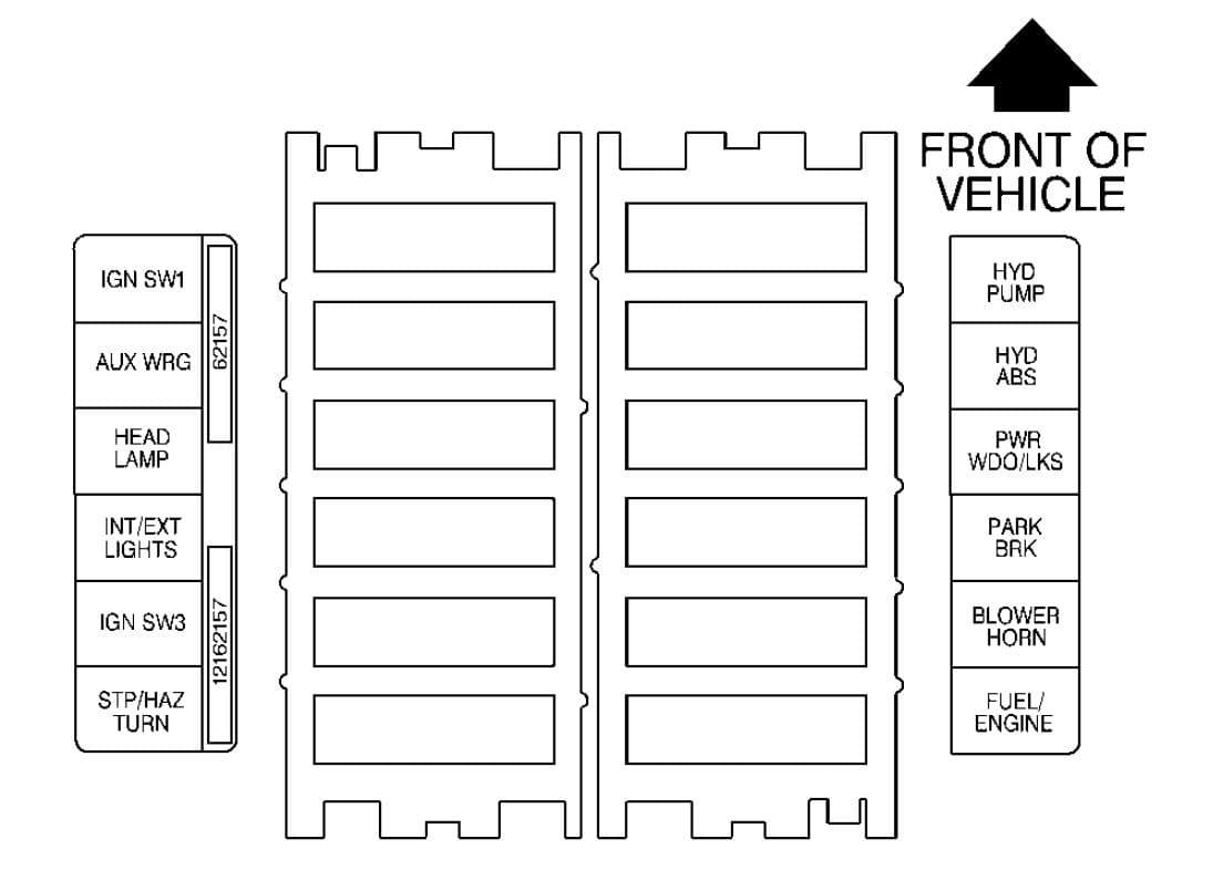GMC C-Series mk2 - fuse box - maxi-fuse block